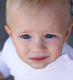婴孩面孔 免版税库存照片