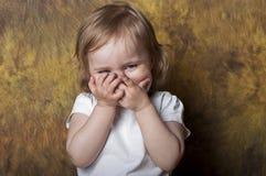 婴孩滑稽的女孩 图库摄影
