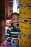 婴孩巴巴里人在一个村庄在摩洛哥 图库摄影