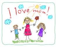 婴孩daugther图画系列父亲祖父祖母开玩笑母亲儿子 女儿日图画开玩笑母亲s儿子 向量例证