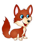 婴孩Fox传染媒介例证 库存图片