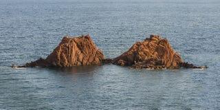 孪生岩层,法国 免版税库存图片