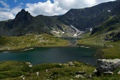 孪生,七个Rila湖, Rila山 免版税库存照片