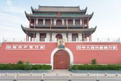 宁夏,中国- 2015年8月18日:在南关(南门的早晨视图 库存照片