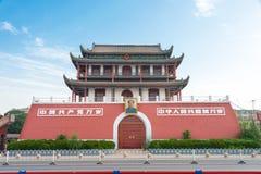 宁夏,中国- 2015年8月18日:在南关(南门的早晨视图 库存图片