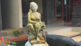 宁静喷泉在巴厘岛,印度尼西亚 股票视频