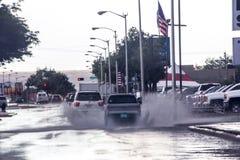 它下雨在亚伯科基的` s!! 免版税库存照片