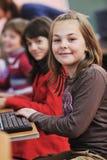 它与子项的教育在学校 库存图片