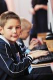 它与子项的教育在学校 免版税图库摄影