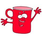 它告诉的` s事红色杯子 库存图片