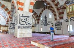 它是一个最高的清真寺老清真寺建筑价值 免版税库存图片