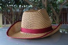 它是一个棕色帽子 免版税库存照片