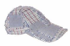它是一个蓝色棒球帽。 免版税库存图片