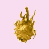 它是在桃红色背景隔绝的金菠萝 免版税库存图片