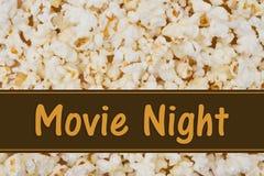 它是电影之夜 库存照片