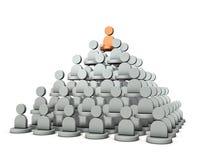它是金字塔结构,力量等级  它代表组织的结构 库存例证