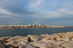 它是Quarteira,阿尔加威,葡萄牙 库存照片
