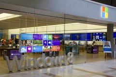 Bellevue方形的购物中心的微软商店 免版税库存图片