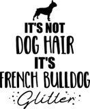 它\'s不是狗毛,它\'s法国牛头犬闪烁 向量例证
