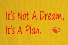 它` s不是梦想,它` s计划概念 免版税库存图片