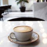 它` s咖啡o `时钟 免版税库存图片