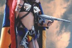 宇宙战士妇女 免版税库存照片
