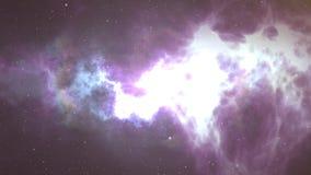 宇宙用星、星云和星系填装了 行动 星系银河的无缝的圈动画 影视素材