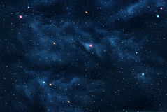 宇宙用星形装载了 免版税库存图片