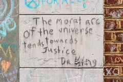 宇宙的道德弧 免版税库存图片