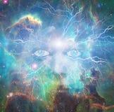宇宙的面孔 向量例证