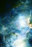 宇宙空间和星,上色宇宙抽象背景 皇族释放例证
