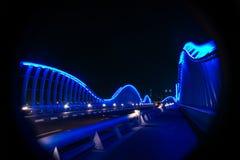 宇宙蓝色桥梁 库存照片