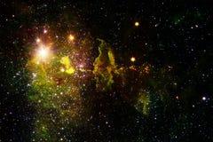宇宙风景,与不尽的外层空间的令人敬畏的科幻墙纸 向量例证