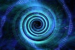 宇宙黑洞3D例证 库存例证
