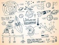宇宙infographics元素汇集 向量例证