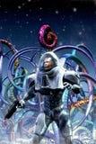 宇航员冒险家和外籍人行星 皇族释放例证