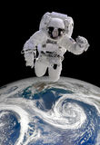 宇航员外层空间 库存图片