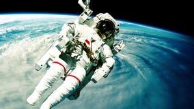 宇航员外层空间 库存例证
