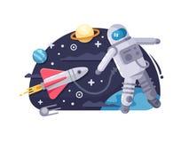 宇航员外层空间 皇族释放例证