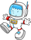 宇航员男孩动画片颜色逗人喜爱的向&# 免版税库存照片