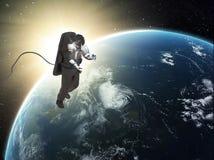 宇航员空间行走 免版税库存照片