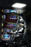 宇航员死在空间 免版税库存照片