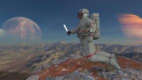 宇航员 向量例证