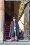 守卫在城镇厅的入口在法兰克福 库存照片
