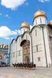 守卫总统克里姆林宫莫斯科的游行 图库摄影