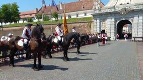 守卫改变的仪式,阿尔巴尤利亚,罗马尼亚 影视素材