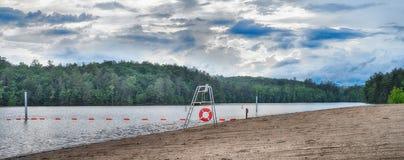 守卫海滩`美国系列的` 库存图片