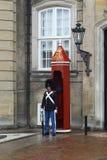 守卫王宫,哥本哈根 免版税图库摄影