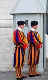 守卫瑞士梵蒂冈 免版税库存图片
