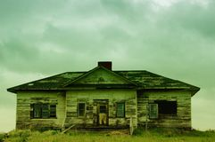 守旧派房子在东蒙大拿 库存图片